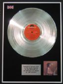JIMI HENDRIX -  LP  Platinum Disc   -  AT THE ISLE OF WIGHT